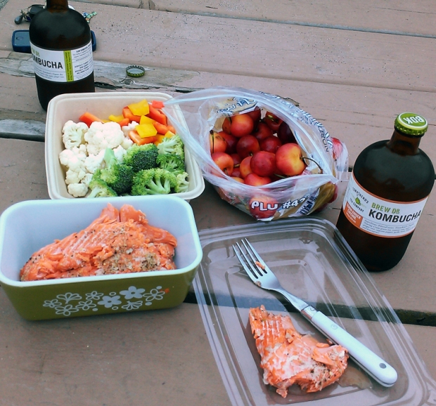Healthy picnic at the park