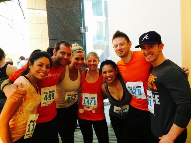 Team Orangetheory Fitness Seattle at the Big Climb 2015