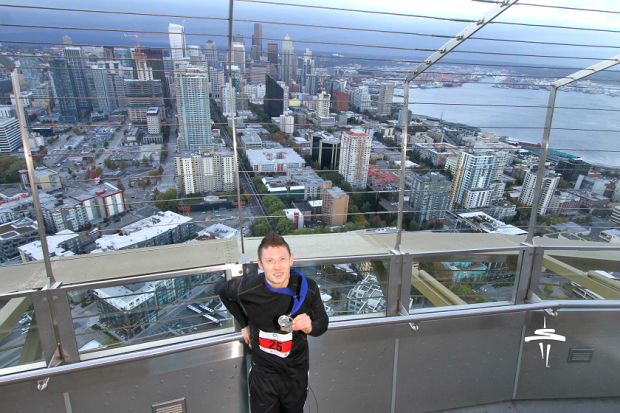 Base 2 Space Needle selfie