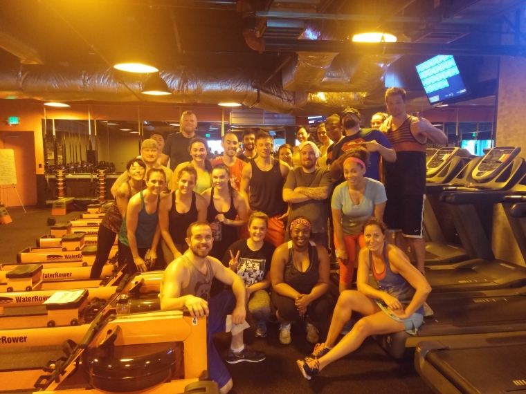 Here's a quick snap at the end of one of my HIIT classes at the Orangetheory Fitness in Seattle, WA... the Capitol Hill studio location.
